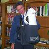 Dave in uniform - 2001- goofing!
