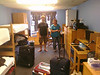 David checks into his dorm room in Deming Hall.