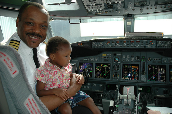 THIS MAN IS NOT GOING TO LET THAT CHILD DRIVE THIS PLANE
