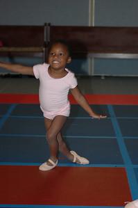 grandaughter Allison demonstrating some of her moves