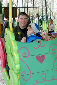 Mark & Joey on the carousel