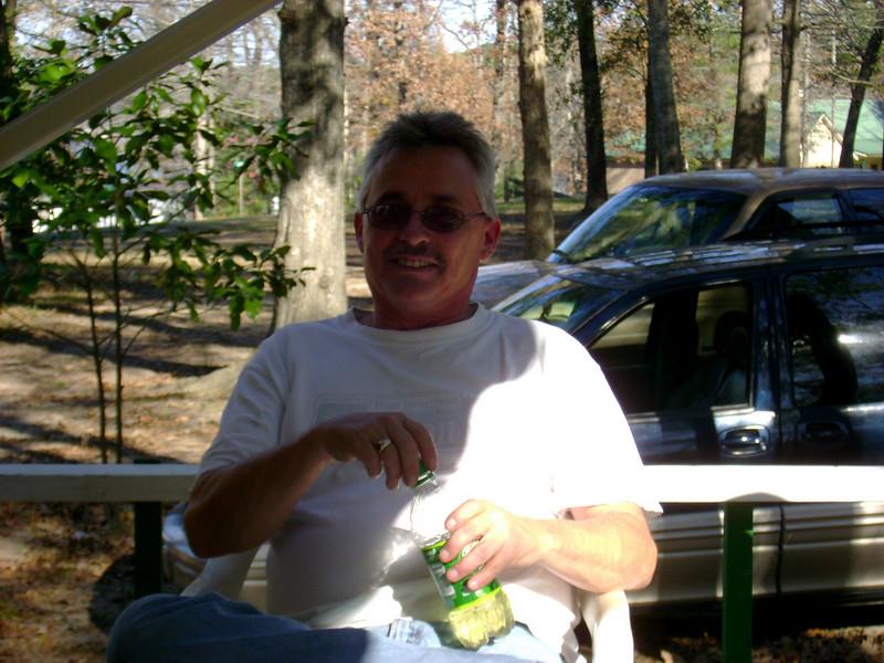 Gary , at Aunt Eulene's house on lake Toledo Bend.