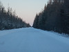 Heading up the winter road towards Fort Albany.