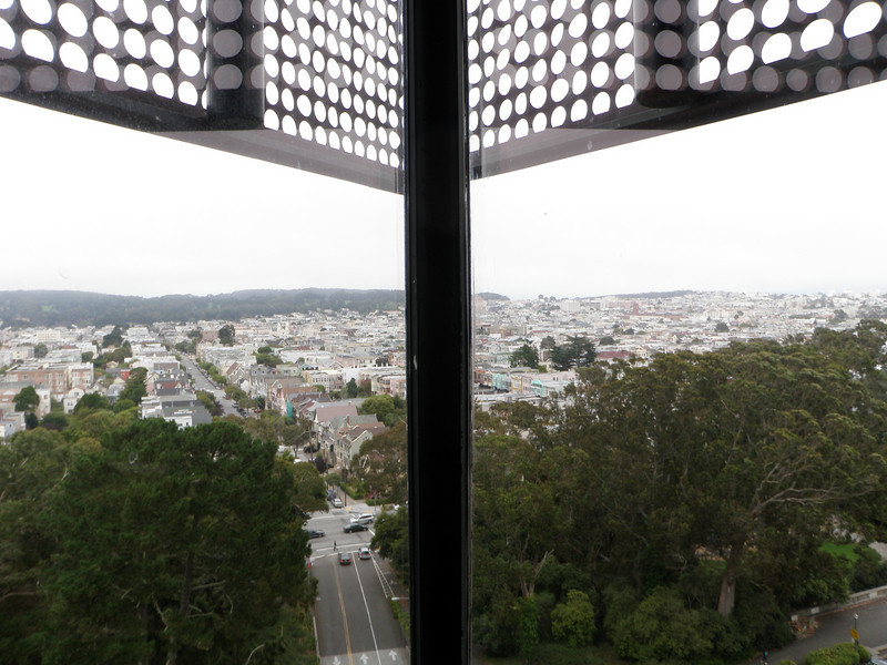 Corner view of SF from the Observation deck of the de Young.