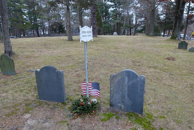 John and Priscilla (Mullins) Alden Burial Place