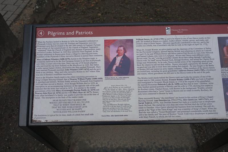 Kings' Chapel Burying Ground - Boston MA