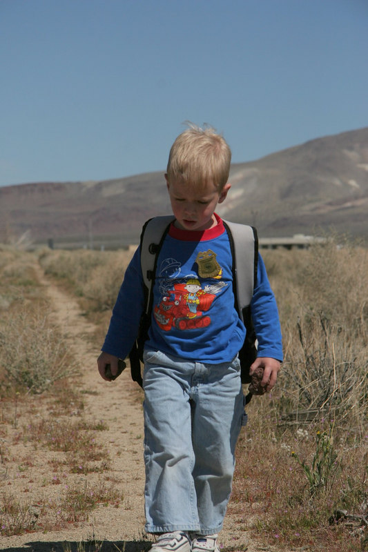 Henry on the way to Coso Junction Geocache