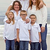 Mathis & Hernandez Family, Christmas 2020. Front Row: Caelyn, Hunter, Grayson; Back Row: Krystal, Brandon, Sara