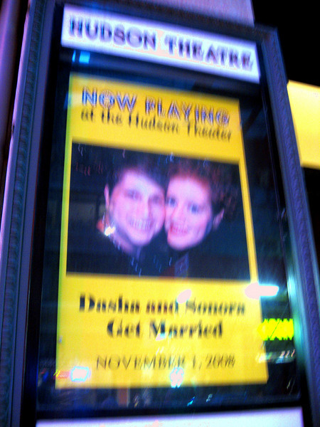 Deb and Sonora get hitched in NYC--in grand theater style!