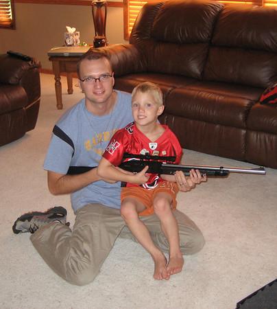 Wyatt's First BB Gun