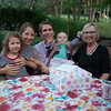 Lucy, Corie, Chad, and Max Belton (Debbie's adoptive family) joined the party.