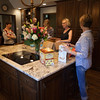 John and Jane Musgrove opened their home for the party. Here we are getting the refreshments ready.
