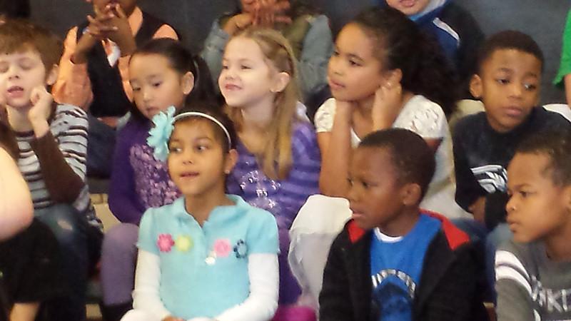 Haley in blue,  Maddi in purple stripes, EmmaKay next to Maddi