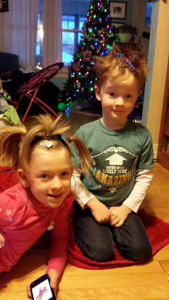 Crazy hair day at Loring. 2nd grade and High Five.