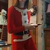 Lila in elf pajamas