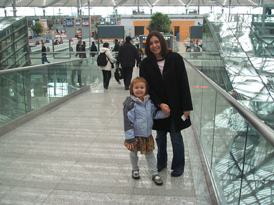 Mia and I at the bus station.  This was our first time on the train in China.