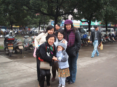 """Mia and I took a train trip to """"Leather town"""" with some friends from the office (Rachel, Mindy, Ellen) and Xia Lu."""