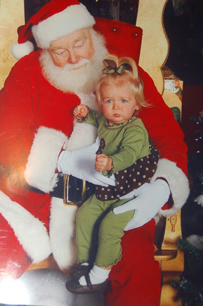 Hallie not so sure about Santa.....