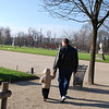 SB:  Walking with Grandpa in the Tuileries