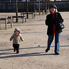 SB:  Walking with Grammy at the Tuileries