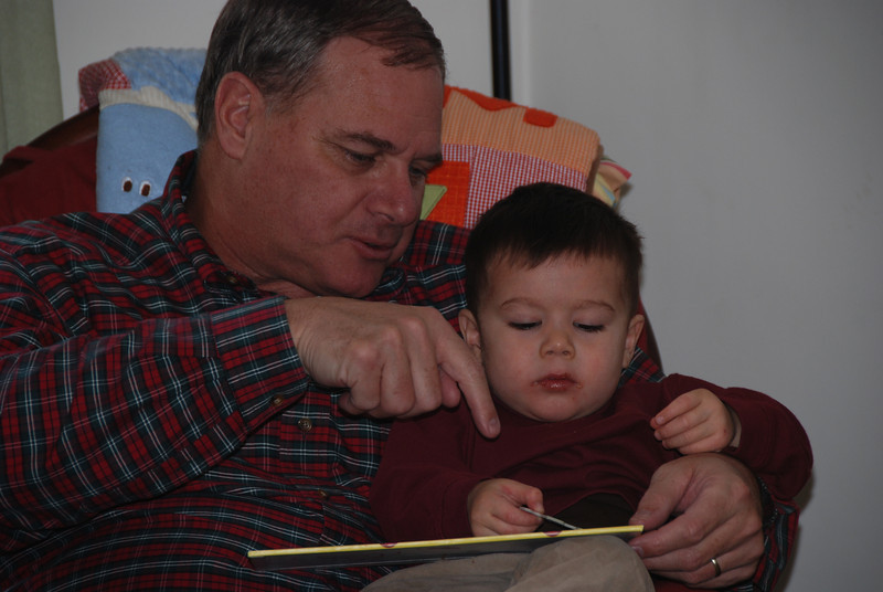 SB:  Reading with grandpa
