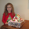 Norah's gingerbread house made at school.
