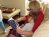 Grandma reading Stellaluna to Ruby, NYC, 12/1/2012