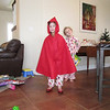 Santa brought Lena the Little Red Riding Hood & red shoes she asked for!