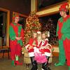 Visiting Santa at the Growing Tree Sing-a-Long.