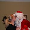 Rachel kissing Santa