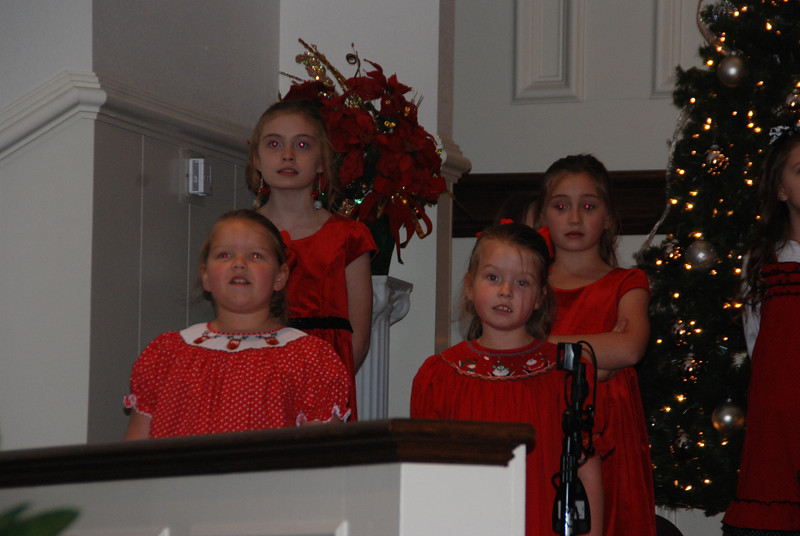 Singing in the Christmas Program at church