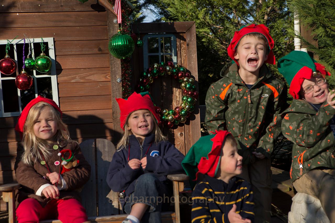 Singing Christmas songs.