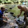 Deep Creek Landon Troy Tim in creek by hm 2015