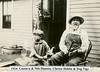 1 027 2 15 1924 Gustava, Clarice Dehlin, Nils & Dog Tige