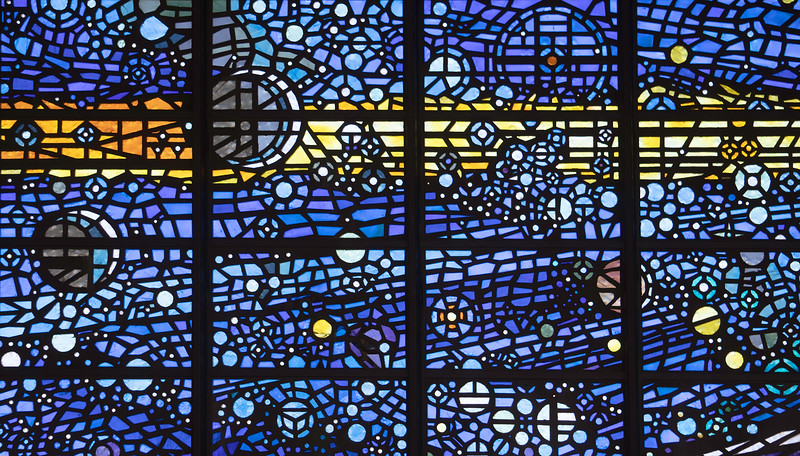 The Big Bang: Stained Glass Window at Delaney's Baptism