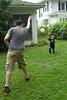Ryan and Riker playing ball