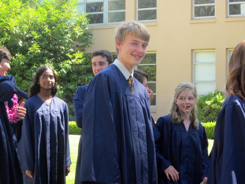 Denali in the 8th grade class line up