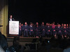 Eighth graders on stage -Denali invisible in back row