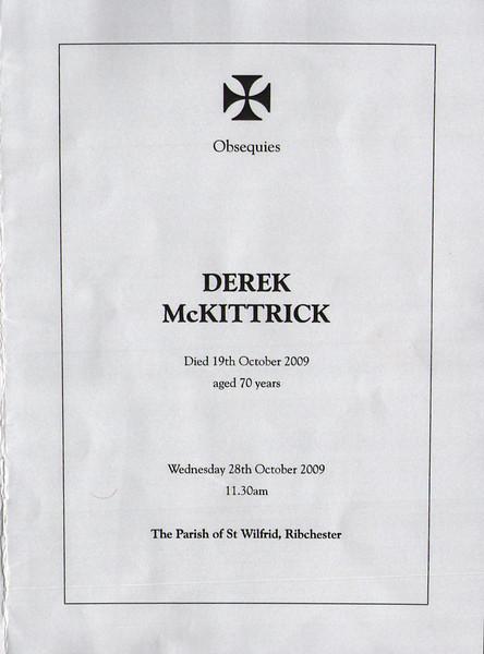 Derek McKittrick Funeral Service P1