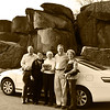 Taken 100 years later.   2012 .   <br /> From left to right......Donald Myers, Elizabeth Myers, Peg Myers Briscoe, Doug Briscoe, Susan Huse (Briscoe)<br /> Donald Myers' father is one of the men in the car from 1912.  All are relatives in the car