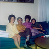 1969, Diane and Rico's house in San Bruno: Conrad, Artie, Diane and stepson Rick