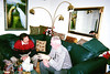 Lou Ciaruffoli and Fred Pape at Diane's for Christmas, 2001