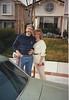1995 Ron and Diane at Moreno Ave House, taken by Fred next to his car