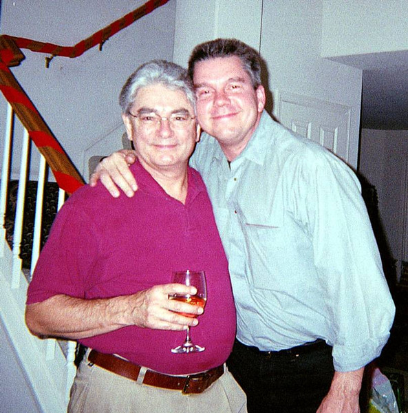 2001 Christmas: Ron and son-in-law Ken Slosarik