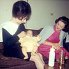 1964 Diane, infant daughter Victoria and cousin Timmie