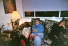 2003-12-24 Christmas at Diane's, here showing at the left Diane's dear friend Johanna Martin, true to her until the last day.