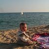 En la playa de Arenys