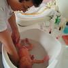 Primer baño en el Hospital 18 de Agosto