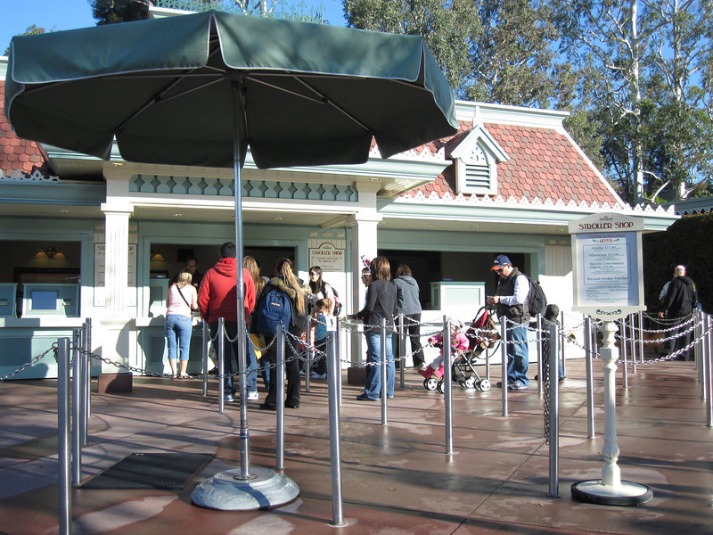 """JSturr Photographer -  <a href=""""http://www.jsturr.com"""">http://www.jsturr.com</a><br /> <br /> Disney Land main gate area where the strollers are rented."""