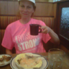 Tuesday Morning.    Becky has a new shirt we are at Bob Evans and the waitress gave us the code for BOGO breakfast